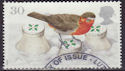 1995-10-30 SG1898 30p Christmas Robin Stamp Used (23513)
