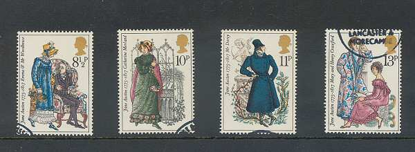 Jane Austen Stamps 1975
