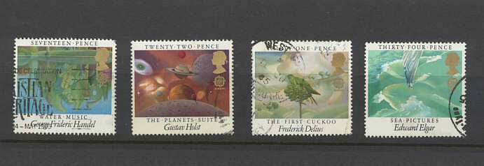Europa British Composers Stamps 1985