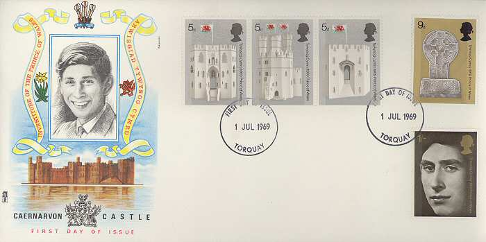 1969-07-01 Investiture Prince of Wales FDC (2570)