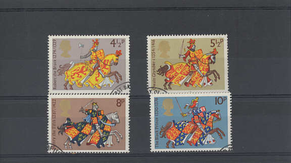 Medieval Warriorsl Stamps 1974
