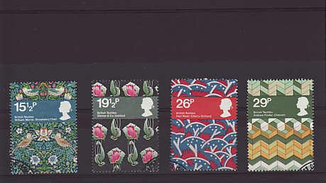 British Textiles Stamps 1982