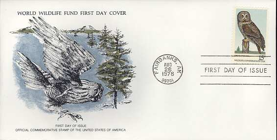 1978-08-26 USA Great Gray Owl FDC (3450)