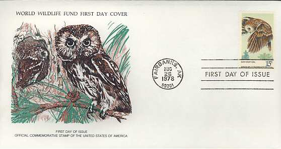 1978-08-26 USA The Saw-Whet Owl FDC (3451)