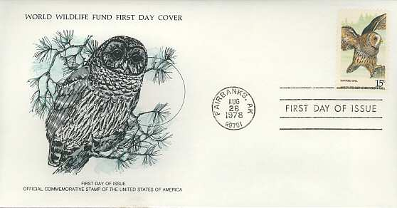 1978-08-26 USA The Barred Owl FDC (3452)