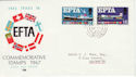 1967-02-20 EFTA Dartmouth cds FDC (45509)