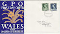 1967-03-01 Wales Definitive Cardiff FDC (45720)