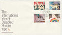 1981-03-25 Year Of Disabled People Lords SW1 cds FDC (45886)