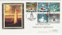 1998-03-24 Lighthouses Eddystone Plymouth Silk FDC (45917)