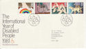 1981-03-25 Year of Disabled Bureau FDC (46012)