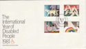 1981-03-25 Year of Disabled Windsor FDC (46013)