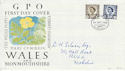 1968-09-04 Wales Definitive Bureau FDC (46381)