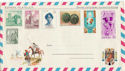 Espana Stamps on Airletter (46748)