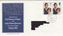 1981-07-22 Royal Wedding Bureau FDC (46857)