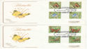 1981-05-13 Butterflies Gutter Stamps Sherborne FDC (47664)