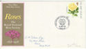 1976-06-30 Roses Mother's Union Pmk FDC (47742)