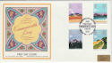 1983-03-09 Commonwealth Day Silk London Silk FDC (47841)