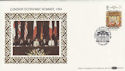 1984-06-05 London Economic Summit Silk FDC (47853)
