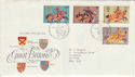 1974-07-10 Medieval Warriors Bureau FDC (48171)