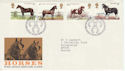 1978-07-05 Horses Peterborough FDC (48275)