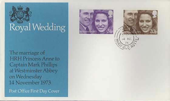 1973-11-14 Royal Wedding FDC cds (4838)