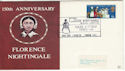 1970-04-01 Florence Nightingale 150th Exhib London FDC (48548)