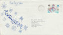 1985-11-22 Christmas Haywards Heath Slogan FDC (48699)