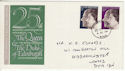 1972-11-20 Silver Wedding Kidderminster cds FDC (48722)