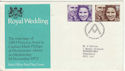 1973-11-14 Royal Wedding Bureau FDC (48906)