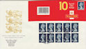 1990-08-07 HC5 Booklet Stamps Walsall FDC (49596)