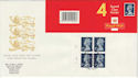 1990-08-07 HA3 Booklet Stamps Walsall Cyl Margin FDC (49601)