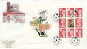 1996-05-14 Football PSB Full Pane Wembley FDC (49611)