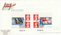 2001-10-22 Flags and Ensigns S/A Bklt Portsmouth FDC (49657)