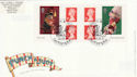 2001-09-04 Punch and Judy S/A Bklt Northampton FDC (49667)