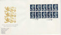 1988-10-11 10 x 14p Booklet Questa Edinburgh FDC (49742)