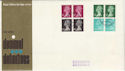 1971-02-15 Definitive 10p Bklt Pane Coventry FDC (49743)
