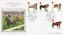 1997-07-08 Queen's Horses Windsor Benham FDC (49888)