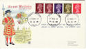 1969-08-27 Definitive Coil Stamps Canterbury cds FDC (50017)