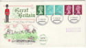 1971-02-15 Definitive Coil Stamps Coventry FDC (50018)