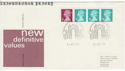 1984-08-14 Definitive Coil Stamps Cleveland FDC (50024)