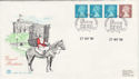 1990-11-27 Definitive Coil Stamps Windsor FDC (50025)