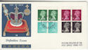 1971-02-15 Definitive 10p Bklt Stamps Windsor FDC (50908)