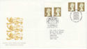 1997-04-21 Gold Definitive Doubled Bureau / Windsor FDC (50912)