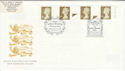 1997-04-21 Gold Definitive Doubled Windsor FDC (50914)