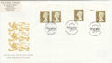 1997-04-21 Gold Definitive Doubled Westminster Abbey FDC (50916)