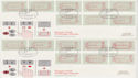 1984-05-01 Frama Postage Labels 32v Cambridge x4 FDC (50957)