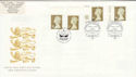 1997-04-21 Gold Definitive Doubled Windsor FDC (51050)