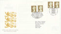 1997-04-21 Gold Definitive Doubled Windsor / Birkhall FDC (51055