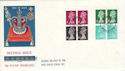 1971-02-15 10p Stamp Book Panes Windsor FDC (51140)