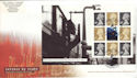 2004-03-16 Letters by Night PSB Full Pane Birmingham FDC (51235)
